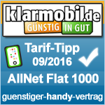 Tarif Tipp September 2016 Klarmobil