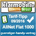 Tarif Tipp September 2016 Klarmobil