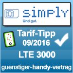 Tarif Tipp September 2016 Simply